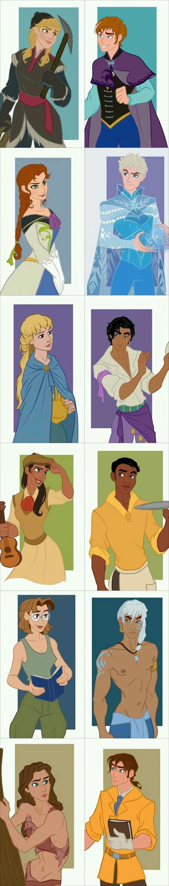 Just some Disney gender bends - 9GAG