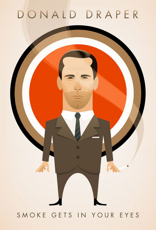 Cool Mad Men Character Posters on yay!everyday