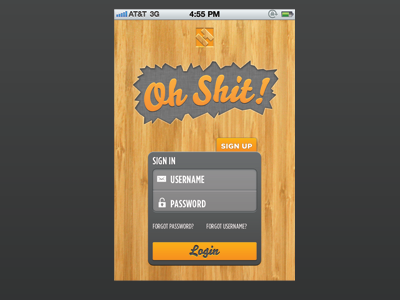 Oh shit Login by Steven Schroeder