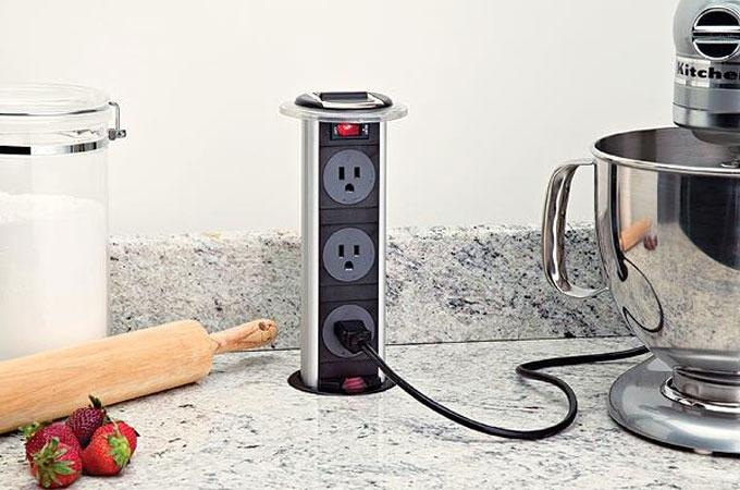 NextCrave - Retractable Kitchen Power Grommet