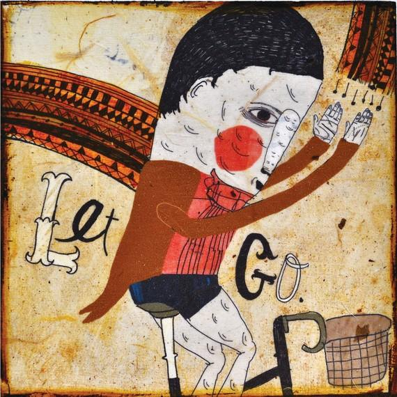 Let Go mixed media prints on wood panels by retrowhale on Etsy