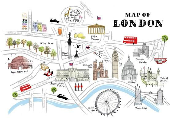 London / alice tait — Map of London