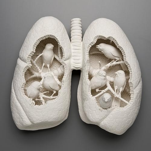 Designspiration — Birds in the lungs Art Sculpture