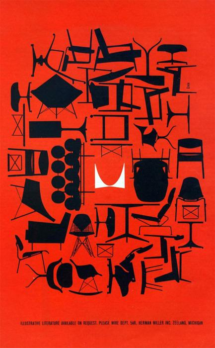 tutto Bene design - look-e-here: Herman Miller Ad - 1961