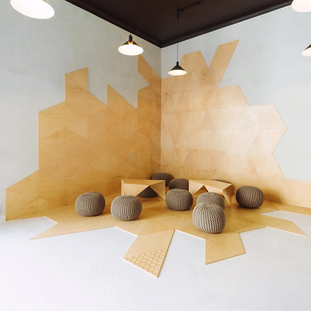 Interior contemporary decor pendant lamp white wall white Small meeting room design ideas