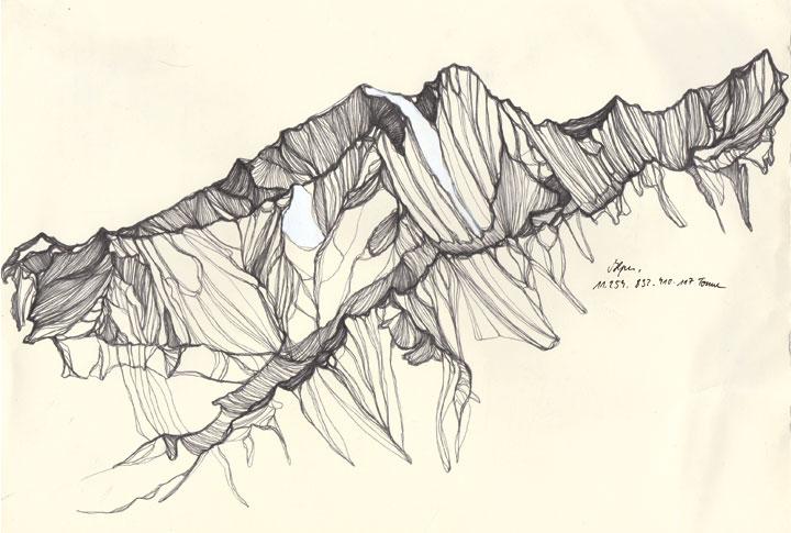 Jennifer Burtchen Explores The Tallest Mountain Tops With Her Pen | iGNANT.de