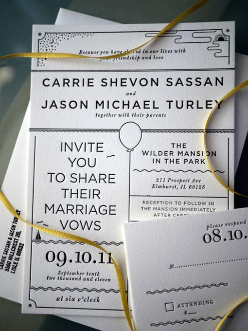 design work life » Dan Blackman: Turley Wedding Invites