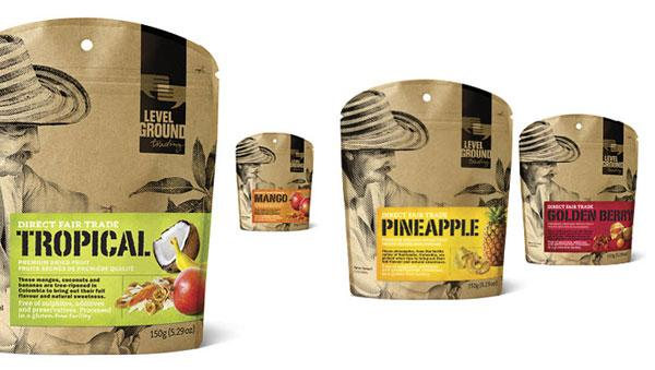 Level Ground Dried Fruits & Sugar Packaging by Subplot