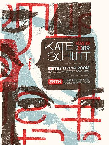 GigPosters.com - Kate Schutt - Chris Brown - Kate Fenner