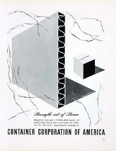 Original Herbert Bayer Container Corp. of America Advertisement