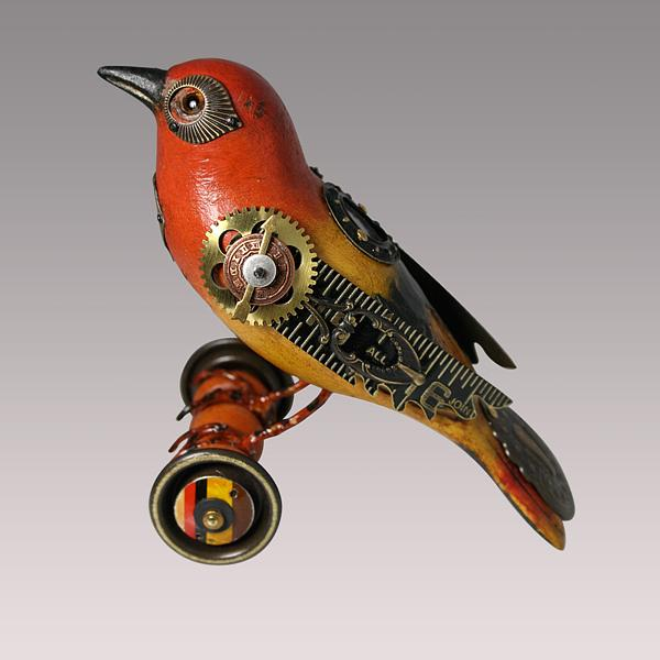 """Songbirds"" – Steampunk Sculptures by Mullanium"