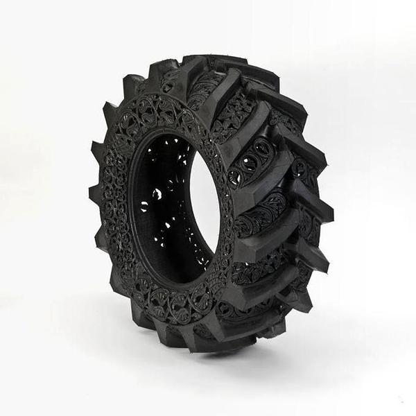 Carved Car Tires by Wim Delvoye