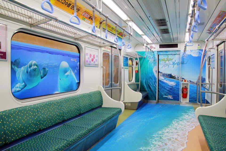 Trains in Korea Are Doing Something Incredibly Creative For Summer