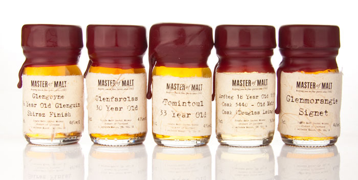 Master of Malt, Drinks by the Dram Sample Set  - TheDieline.com - Package Design Blog