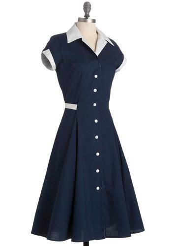 Baba-blue Dress | Mod Retro Vintage Printed Dresses | ModCloth.com