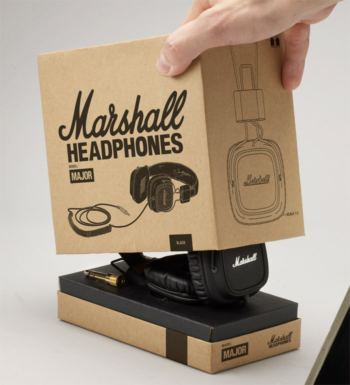 Marshall Headphones Preview - TheDieline.com - Package Design Blog