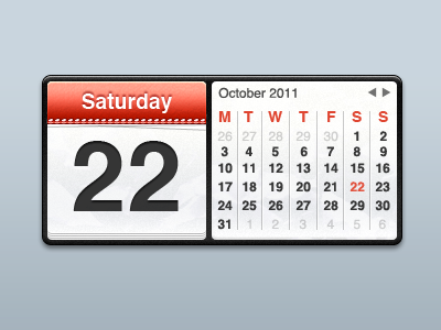 Dribbble - Calendar Widget by Michael Green