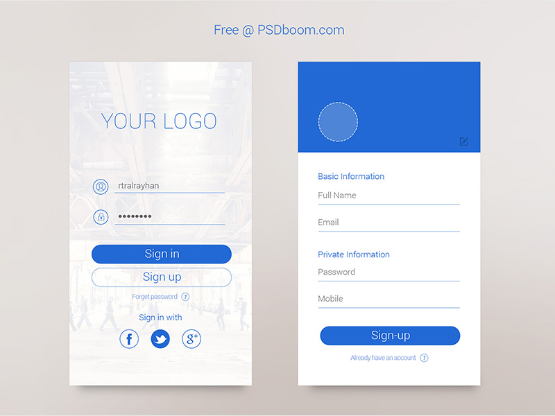 Minimal App Signin & Signup Screen by Al Rayhan