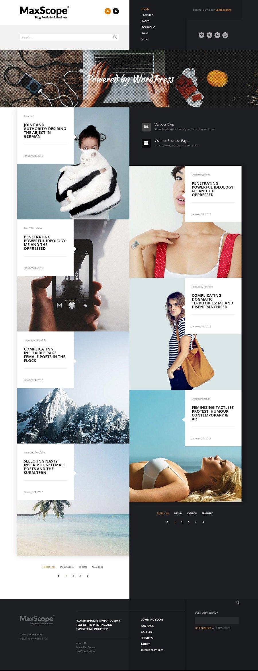 Creative Portfolio WordPress Themes | Best of 2015