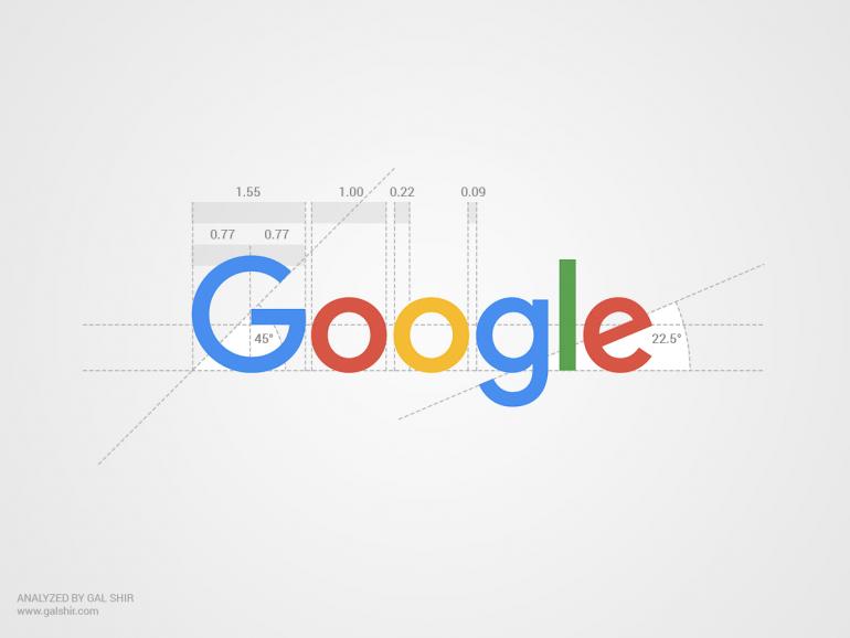 Google's New Logo Analyzed by Gal Shir on Inspirationde