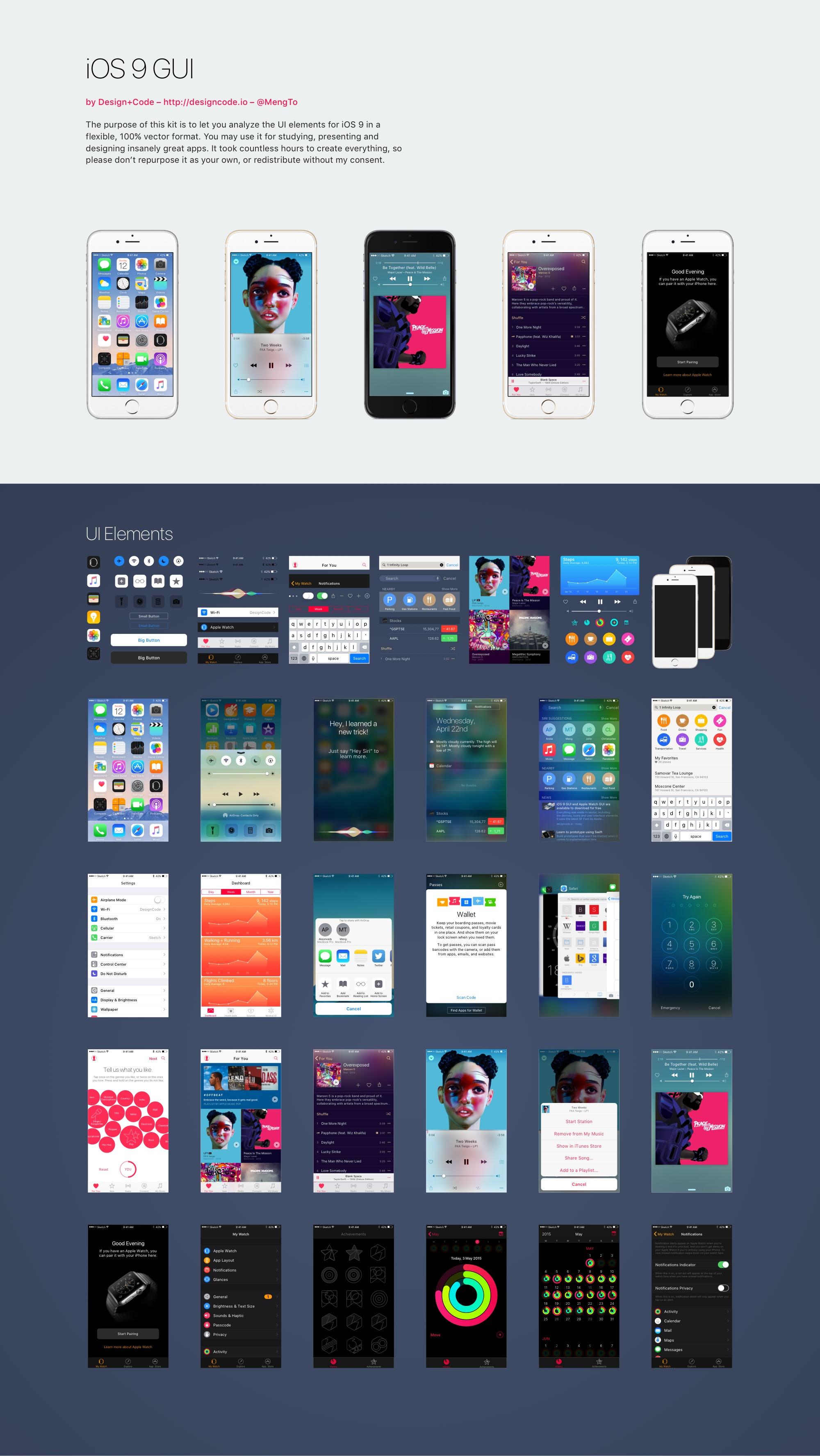 Дизайн приложения для iphone в psd