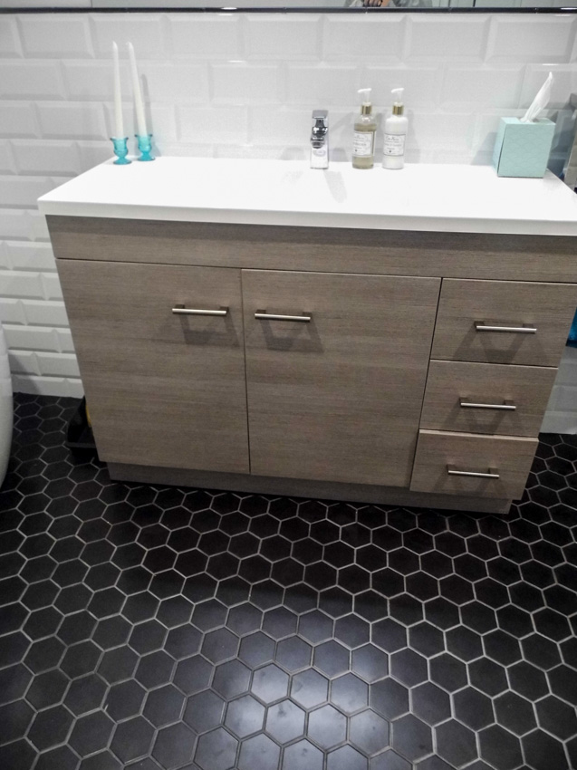 Beautiful Bathroom Hexagon Floor Tile Images Flooring