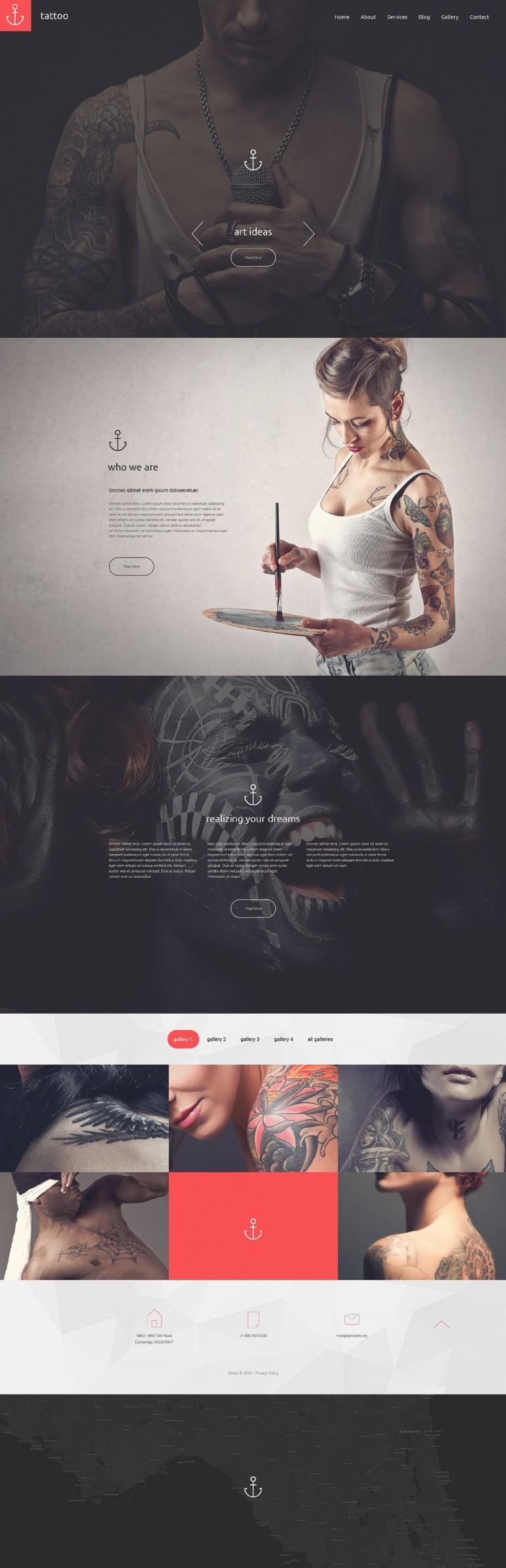 Tattoo Studio Website on Inspirationde