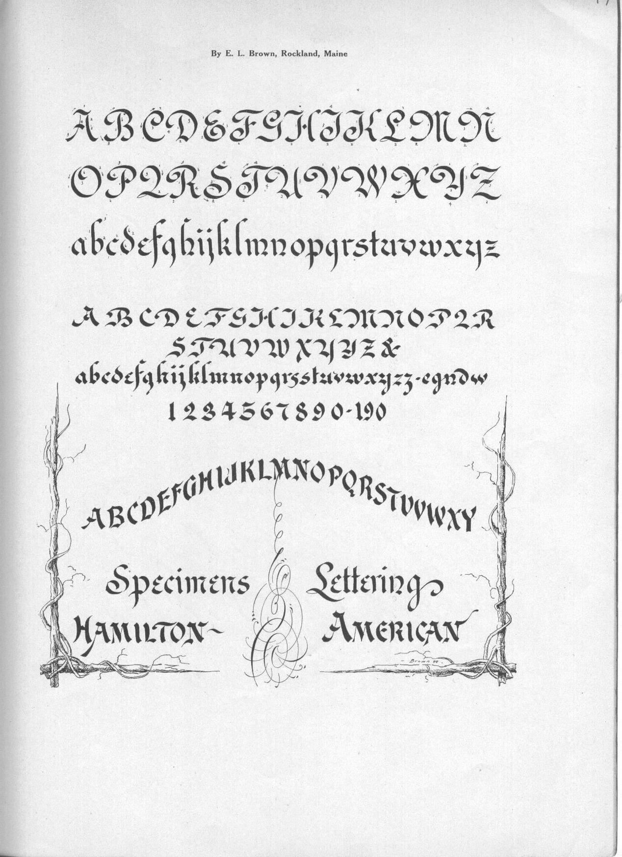 Portfolio of Ornate PenmanshipThe A.N. Palmer Company