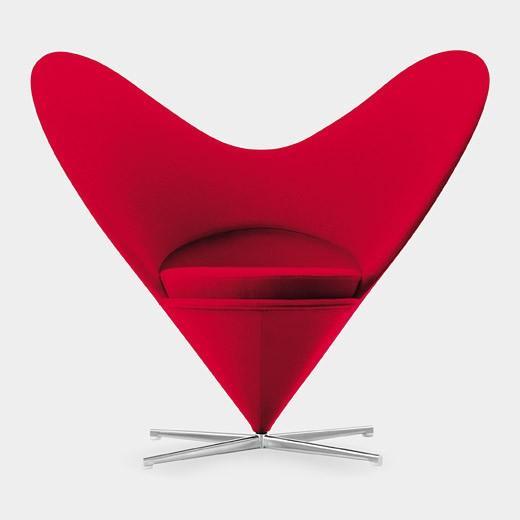 Favorite Color! / Miniature Panton Heart-Shaped Cone Chair by Verner Panton, 1958 #Chair #Mini_Chair #Verner_Panton #Heart_Chair