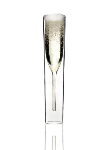Simplicity / Inside out Glass by Alissia Melka: Pleasing champagne flute. Martini glass also available. $59.