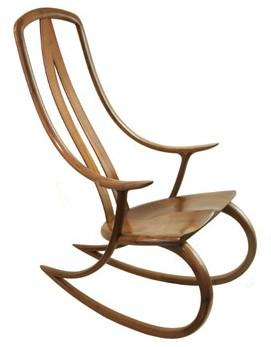 Rocking Chairs / Signature Rocker by David Haig: Handmade of steam bent American Black Walnut.