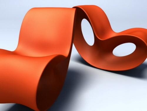 Rocking Chairs / Voido Rocking Chair by Ron Arad: Polyurethane.