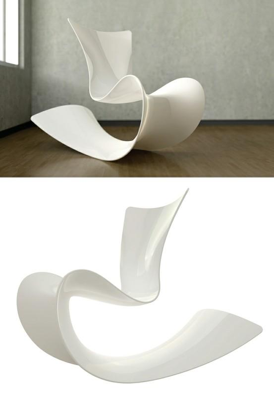 Rocking Chairs / Mamma Rocking Chair by Patrick Messier: Fiberglass with high gloss urethane finish.