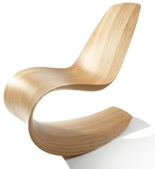 Rocking Chairs / Savannah Bent Wood Rocking Chair by Joyon Yates: Made of birch ply.