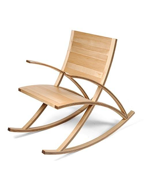 Rocking Chairs / Wishbone Rocking Chair by Toby Howes: Every curve mirrors the others.