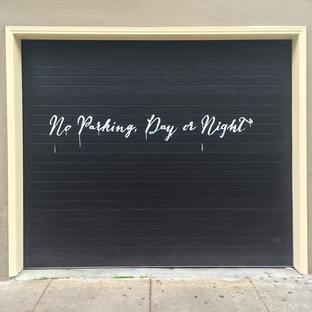 No Parking Day or Night - Fonts In Use