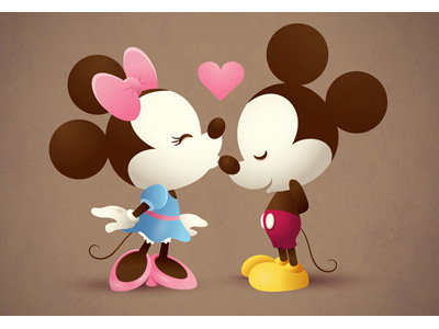 Mickey & Minnie - The Kiss by Jerrod Maruyama