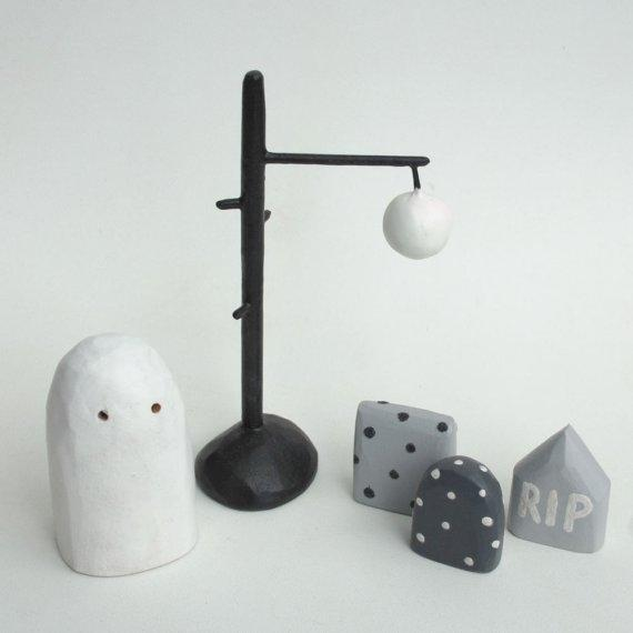 Spooky Halloween Set by bunnywithatoolbelt on Etsy