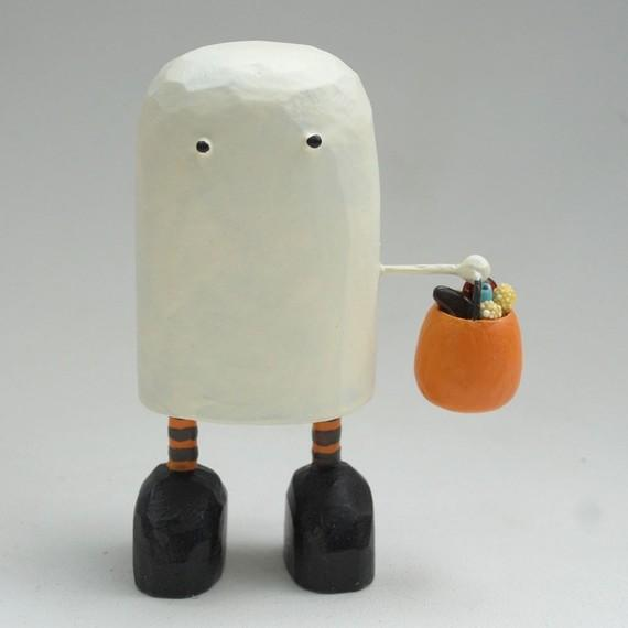 trick or treat ghost by bunnywithatoolbelt on Etsy
