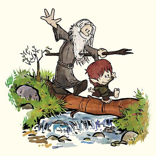 Bilbo and Gandalf (if they were Calvin and Hobbes) : trfling