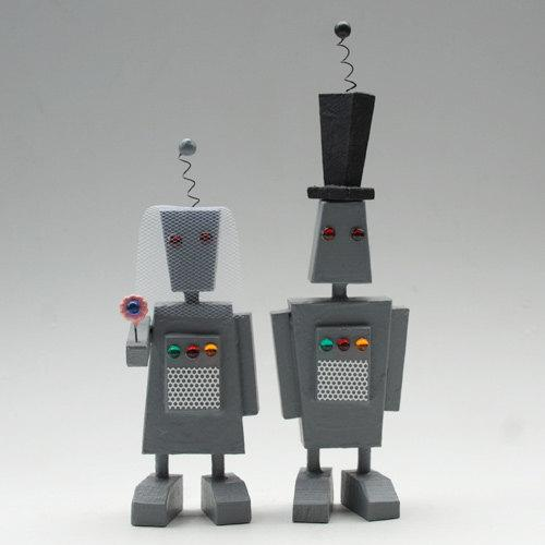 mr and mrs roboto by bunnywithatoolbelt on Etsy