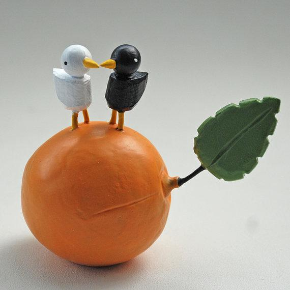 fruity lovebirds by bunnywithatoolbelt on Etsy