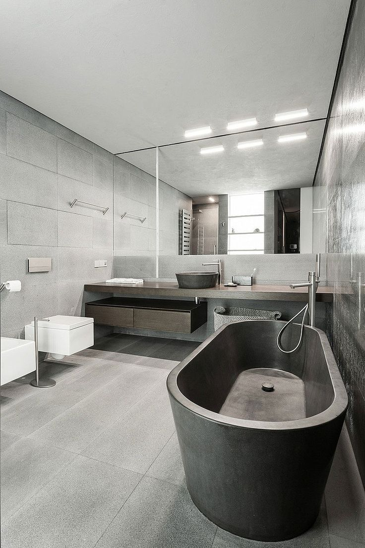 I don't know how a bathroom can be both intimidating and gorgeous - but it makes sense that it would be in Russia. Gorgeous Moscow Apartment by Mez… | Pinterest