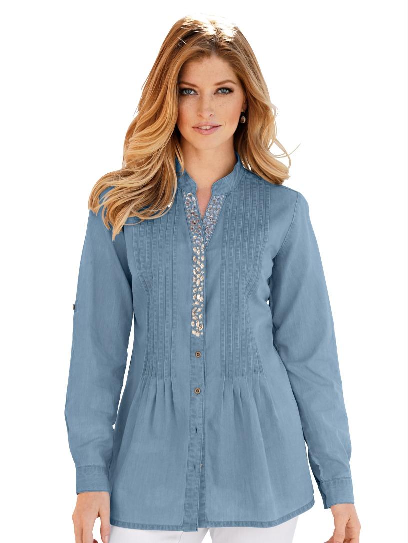 Купить Джинсовую Блузку Большого Размера