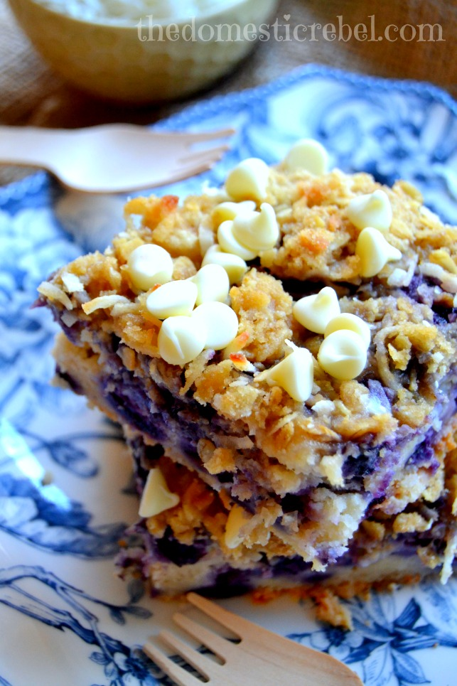 Blueberry Muffin Cake with Coconut Cookie Crumble {Wish Me Luck!!} | The Domestic Rebel