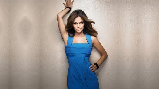 Hot Rachel Bilson in Blue dress Wallpaper | Magicwallpapers.net