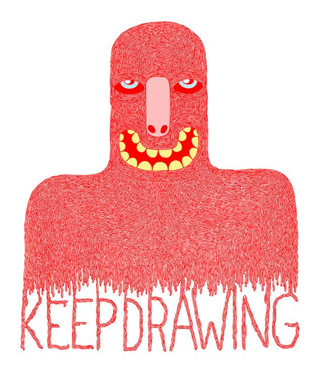 Keep Drawing print design for Super Superficial - Ziebo