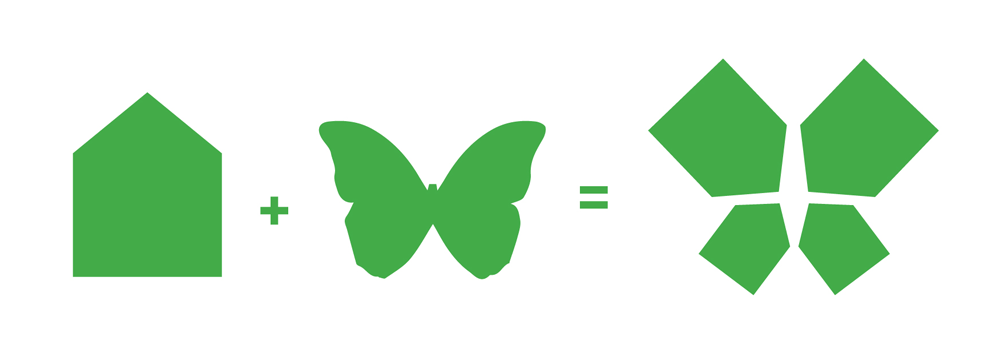 Brand New: New Logo and Identity for Butterfly Home by Interbrand