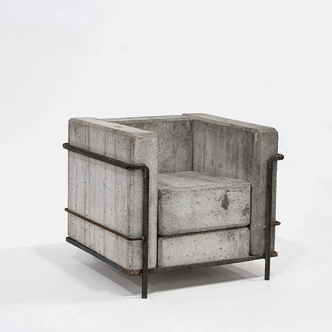 Fancy - Concrete Chair by Stefan Zwicky