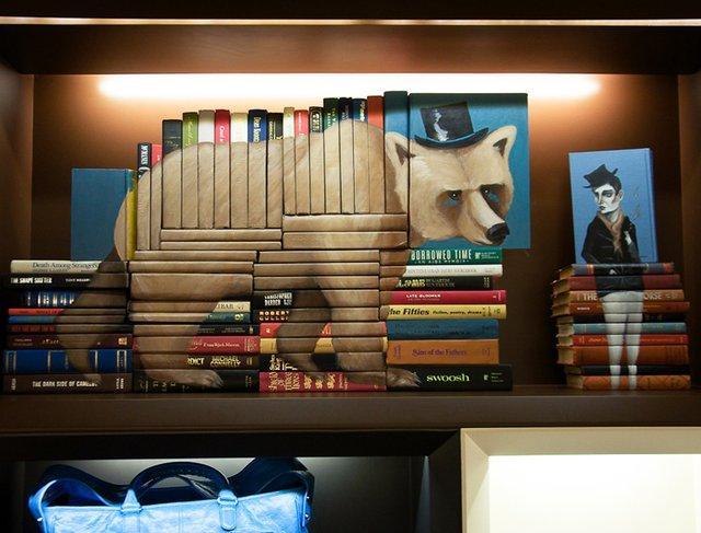 Fancy - Book Sculptures by Mike Stilkey